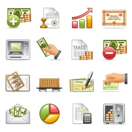 Financiar iconos, conjunto de 2.