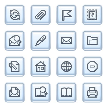 e mail: E-mail icons on blue buttons.