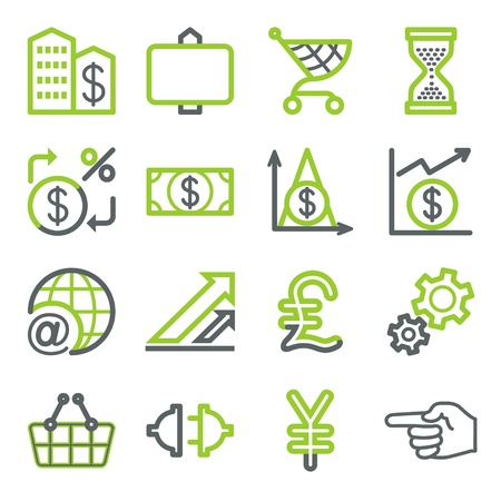Finance and banking icons. Stock Vector - 10342842