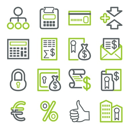 e cash: Icons for business. Illustration