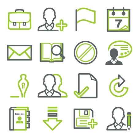 web address: Icons for web set 1 Illustration