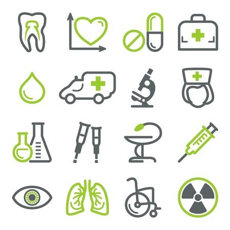 Los iconos de la medicina para la web.