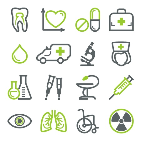 lungs: Medicine icons for web. Illustration