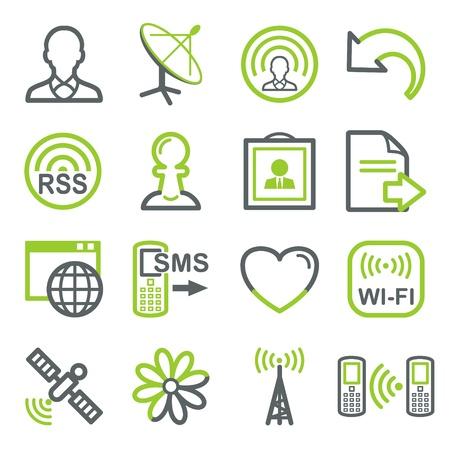 gsm phone: Communication web icons
