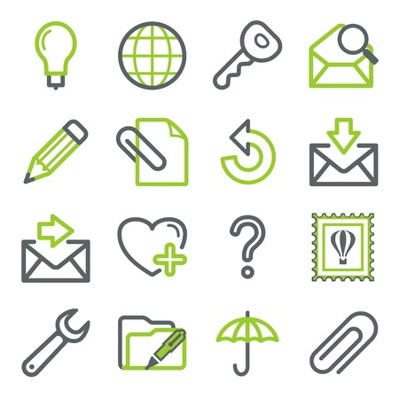 attach: E-mail iconos web Vectores