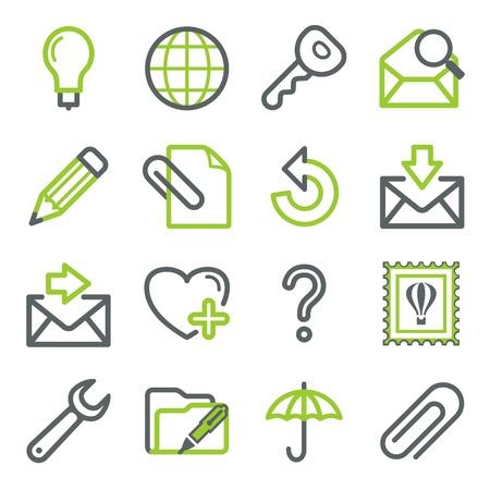 punta: E-mail web icone