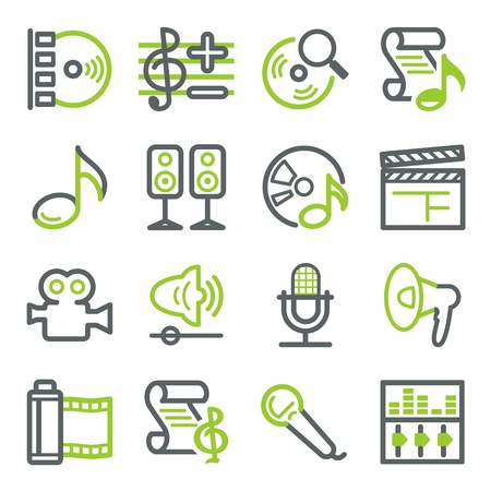 Audio video web icons
