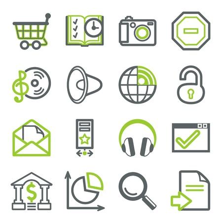 iconos de música: Iconos para web set 3 Vectores