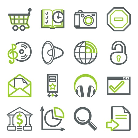 photo icons: Icons for web set 3 Illustration