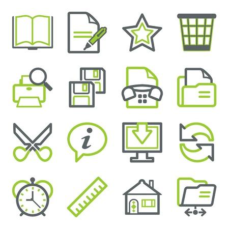 icono fax: Los iconos de Office para la web. Vectores