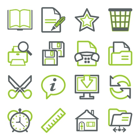 Office icons for web. Vector