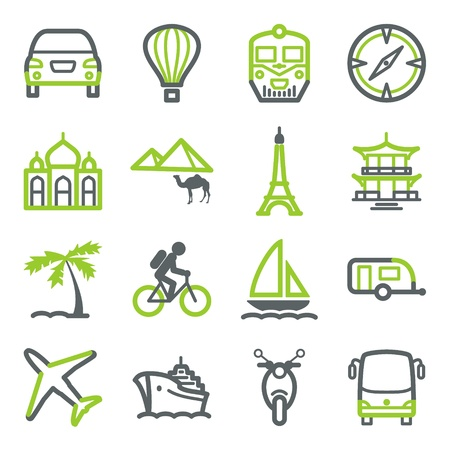 Travel icons for web.