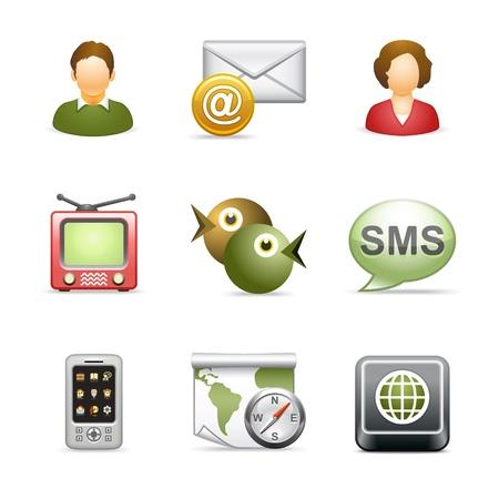 mail man: Iconos de web estilizada, set 24