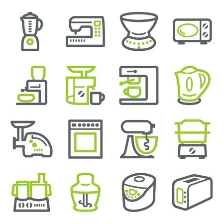 Aparatos eléctricos de cocina. Ilustración de vector