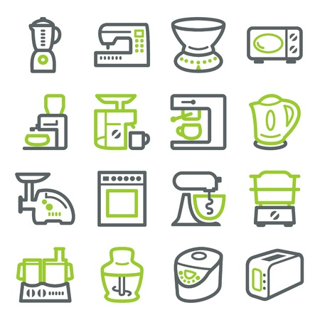 Kitchen electric appliances. Illustration