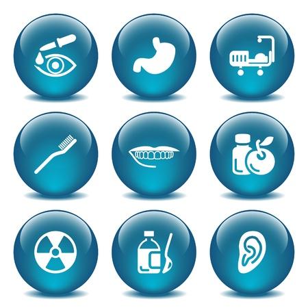 mixtures: Blue glass ball 15 Illustration