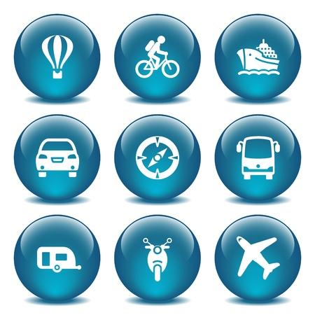 blimp: Azul bola de cristal 20 Vectores