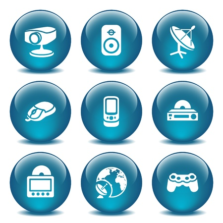 playstation: Blue glass ball 21 Illustration