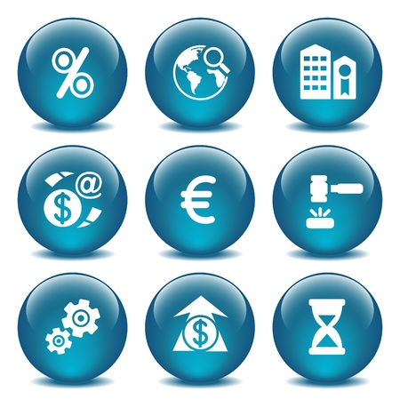 sale icons: Blue glass ball 25