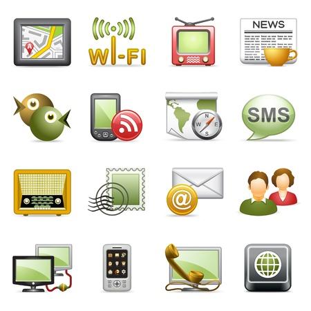 kommunikation: Kommunikations ikoner.