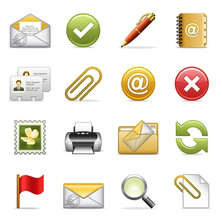 printers: E-mail icons. Illustration