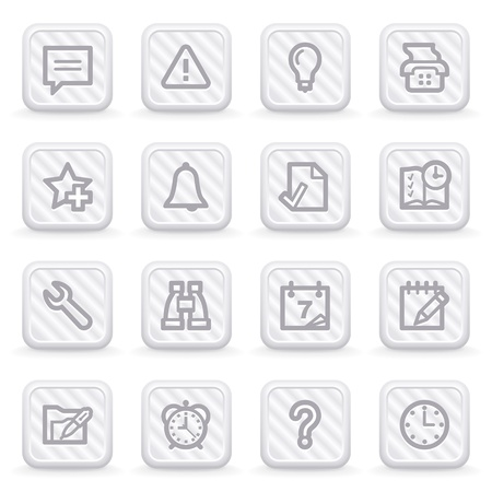 configure: Organizer web icons on gray buttons.