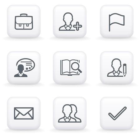 e user: White button for web 1 Illustration