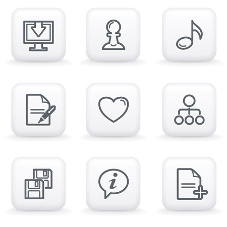 edit icon: White button for web 10 Illustration