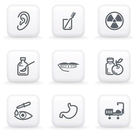 pharm: White button for web 15 Illustration