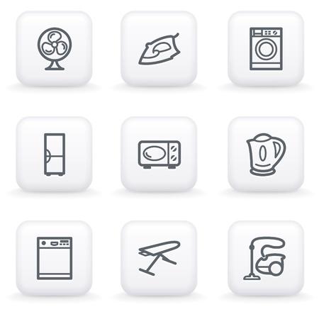 White button for web 18 Vector