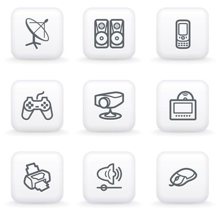White button for web 21 Vector