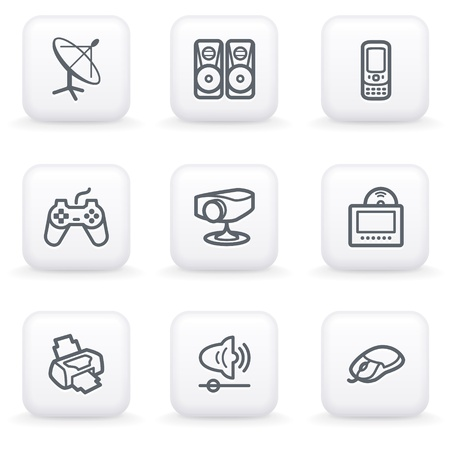 playstation: White button for web 21