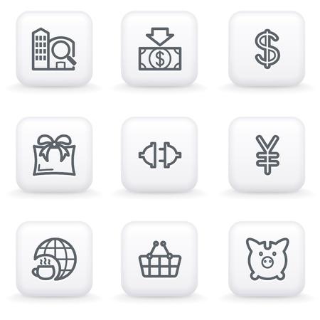 internet cafe: White button for web 24 Illustration