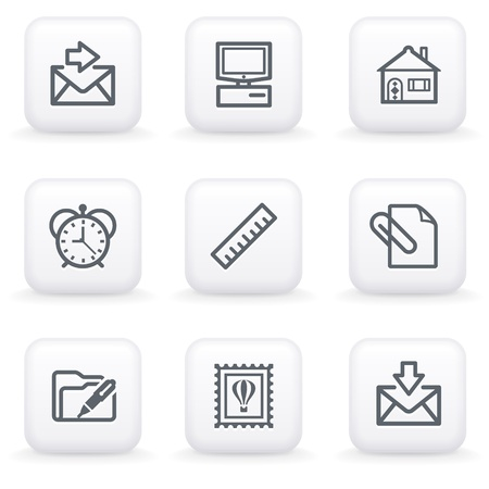 edit icon: White button for web 27
