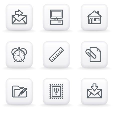 White button for web 27 Vector