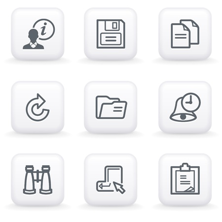 redo: White button for web 3 Illustration