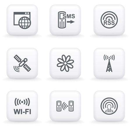 wi fi icon: White button for web 31
