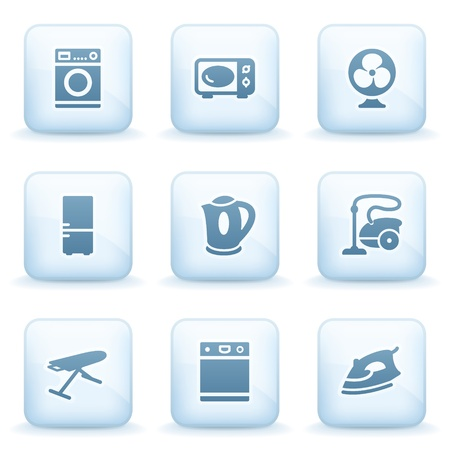 Icons blue series 18 Vector