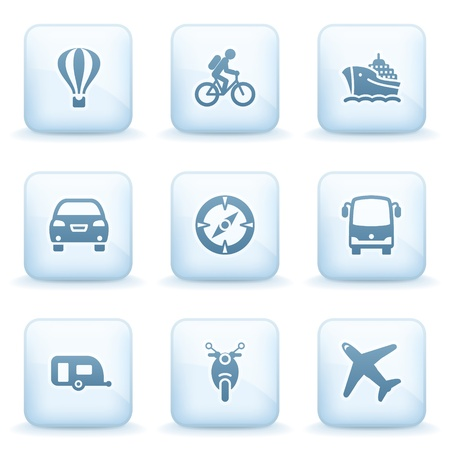 Icons blue series 20 Vector