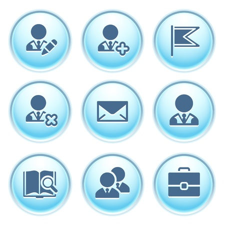 Icons on blue buttons 1 Stock Vector - 10868730