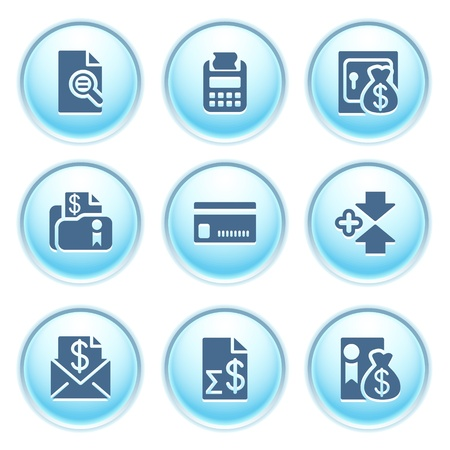 Icons on blue buttons 14 Vector