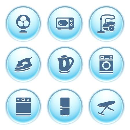 cocina limpieza: Iconos de botones azules 18