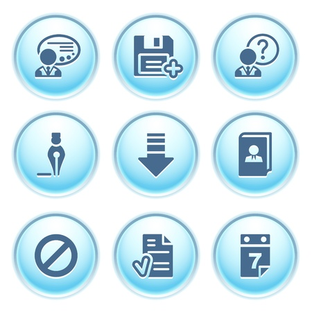 Icons on blue buttons 2 Stock Vector - 10868688