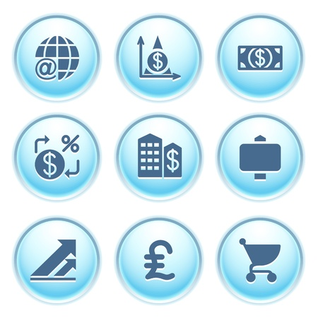 Icons on blue buttons 23 Stock Vector - 10868731