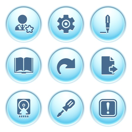 Icons on blue buttons 6 Vector