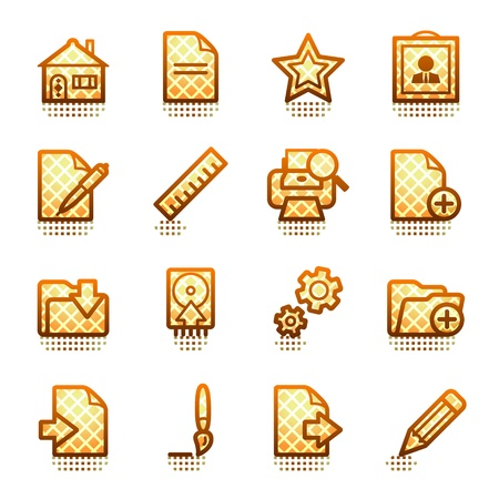 Document web icons, set 2. Brown series. Stock Vector - 11298522