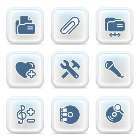 Internet icons on buttons 30 Stock Vector - 11298598