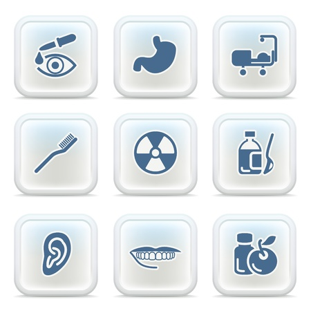 pharm: Internet icons on buttons 26 Illustration