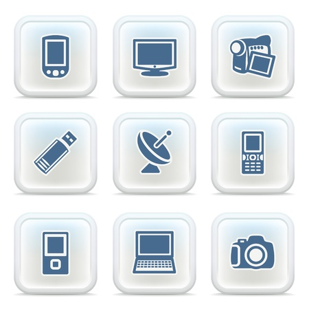 Internet icons on buttons 25 Stock Vector - 11298597