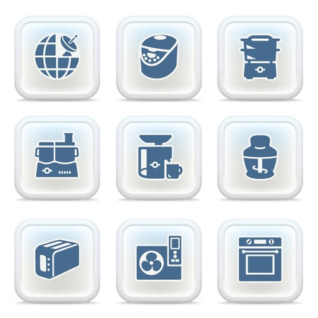 food processor: Internet icons on buttons 24
